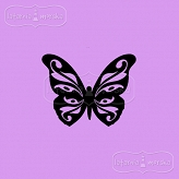 rubber stamp small ornamental butterfly