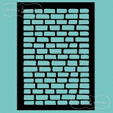 stencil/mask/embossing plate - brickwall