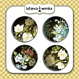 self-adhesive flair buttons - Secret Garden #3