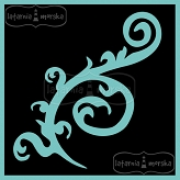 stencil/mask/embossing plate - swirl and background 20x20