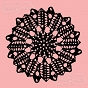 rubber stamp doily