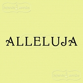 rubber stamp Alleluja (Polish word)