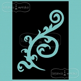 stencil/mask/embossing plate - swirl and background