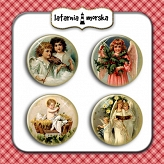 self-adhesive flair buttons - Angels