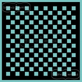 stencil/mask/embossing plate - checkerboard 20x20