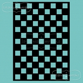 stencil/mask/embossing plate - large checkerboard