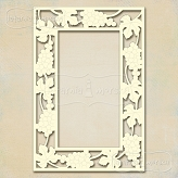 Chipboard frame, design:  grapevine