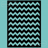 stencil/mask/embossing plate - wide chevron