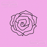 rubber stamp small rose