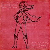 rubber stamp SuperBabe