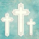 decorative crosses 7 pieces