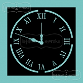 stencil/mask/embossing plate  - clock
