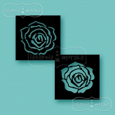 stencil/mask/embossing plate - small layered rose