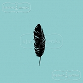 rubber stamp small feather