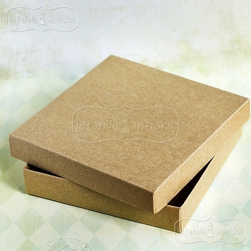 kraft square box Latarnia Morska for a greeting card