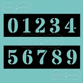 stencil/mask/embossing plate - Numbers
