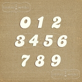 chipboard numbers small (model #1)