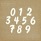 chipboard numbers small (model #2)