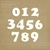 chipboard numbers small (model #3)