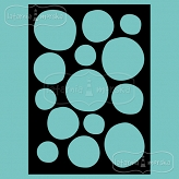 stencil/mask/embossing plate - circles out of shape