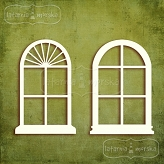 romantic oval windows 4 pieces