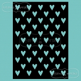 stencil/mask/embossing plate - hearts