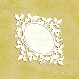 ornamental leaves frame S (9cm) 2 pieces