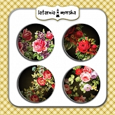 self-adhesive flair buttons - Secret Garden #2