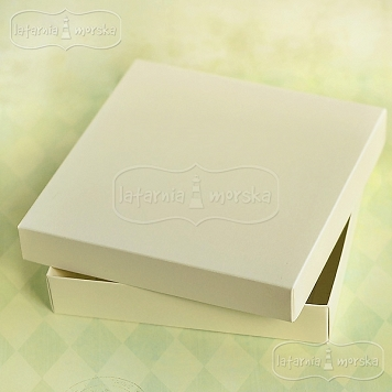 ivory square box Latarnia Morska for a greeting card