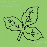 rubber stamp small leaves
