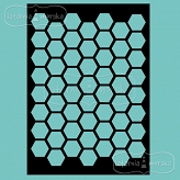 stencil/mask/embossing plate - honeycomb