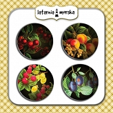 self-adhesive flair buttons - Secret Garden #1