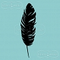 rubber stamp big feather