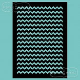 stencil/mask/embossing plate - narrow chevron
