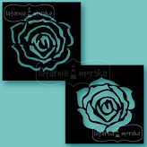 stencil/mask/embossing plate - large layered rose